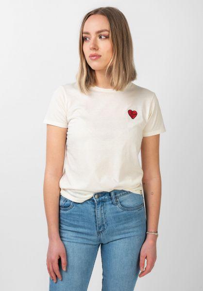 iriedaily T-Shirts Cuddle Girl offwhite vorderansicht 0321122
