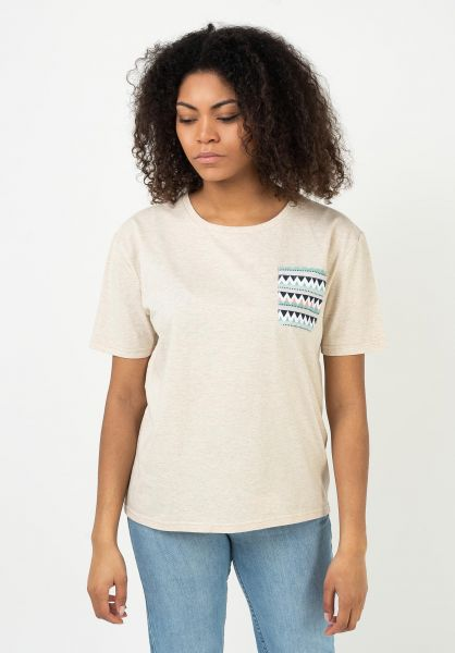 TITUS T-Shirts Rhythm Pocket crememottled vorderansicht 0321965