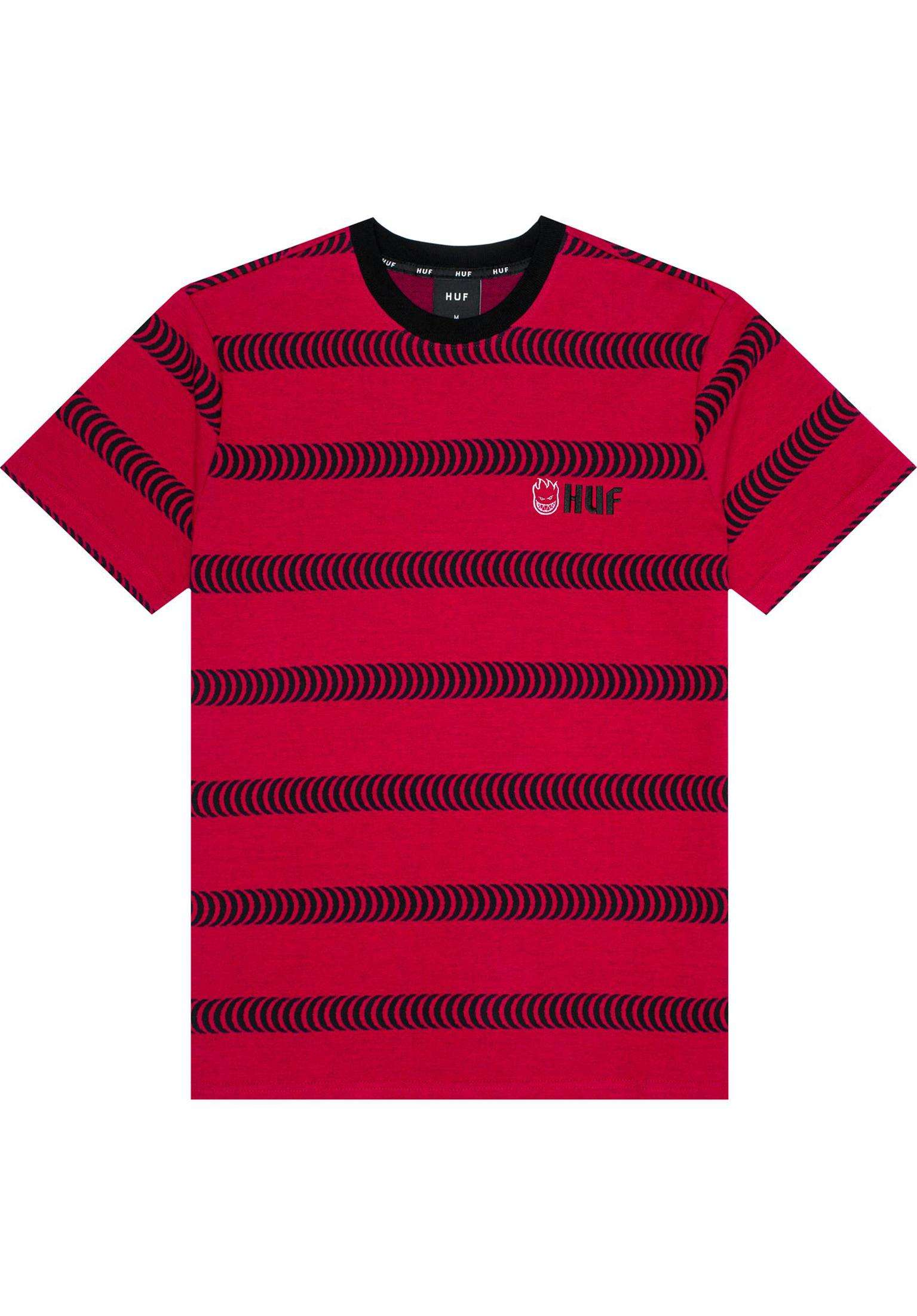 ed296964ee x Spitfire Striped Knit HUF T-Shirts in red for Men | Titus