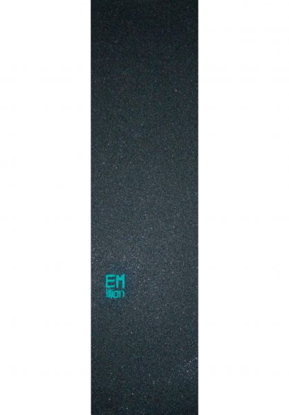 EMillion Griptape Small-Logo black-turquoise Vorderansicht