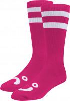 Polar Skate Co Socken Happy Sad Classic hotpink Vorderansicht