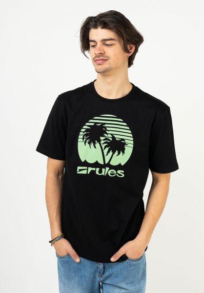 Rules T-Shirts Palms black-tea vorderansicht 0395411