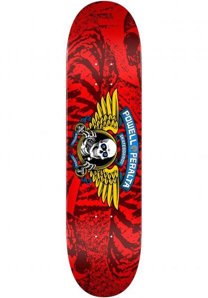 Powell-Peralta Skateboard Decks Winged Ripper Birch red vorderansicht 0260294