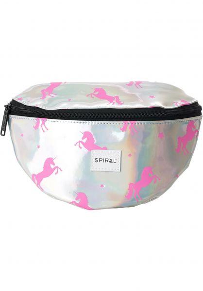 Spiral Hip-Bags Platinum Bum Bag silver-pink-unicorns Vorderansicht