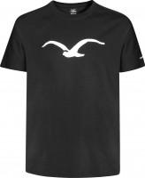 Cleptomanicx-T-Shirts-Moewe-black-white-Vorderansicht