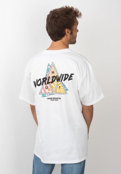 HUF T-Shirts Radical TT white vorderansicht 0320528