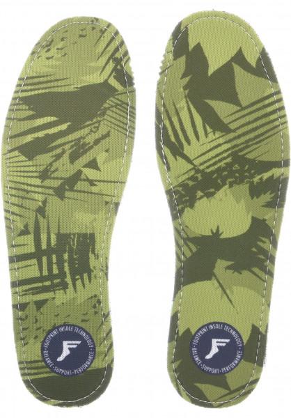 Footprint Insoles Einlegesohlen Kingfoam Camo Low yellow Vorderansicht