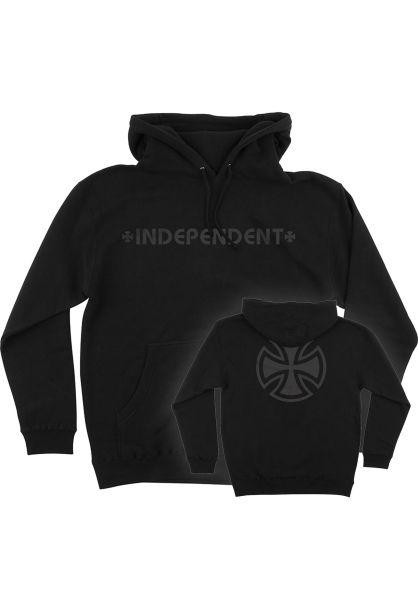 Independent Hoodies Bar/Cross Fade Out black vorderansicht 0445921