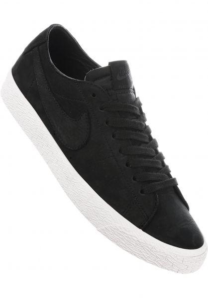 Nike SB Alle Schuhe Zoom Blazer Low Deconstructed black-black-anthracite Vorderansicht