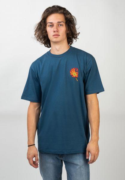 Carhartt WIP T-Shirts Match prussianblue vorderansicht 0320602