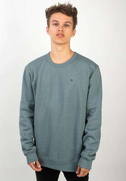 Brixton Sweatshirts und Pullover B-Shield bluehaze vorderansicht 0422593