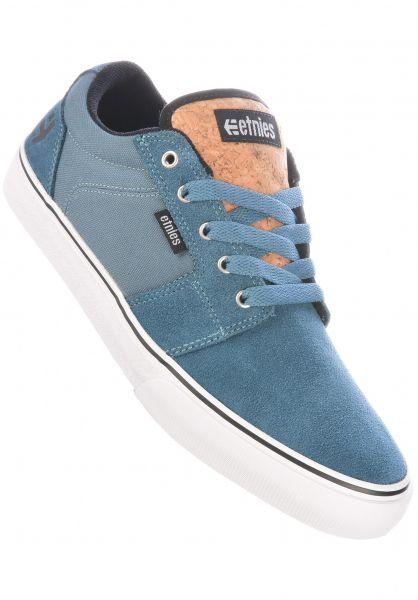 etnies Alle Schuhe Barge LS blue-white vorderansicht 0602679