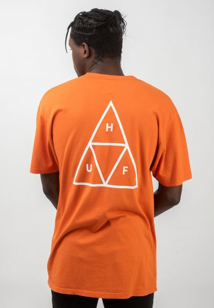 HUF T-Shirts Triple Triangle rust vorderansicht 0390861