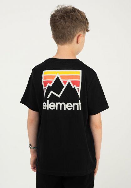 Element T-Shirts Joint Kids flintblack vorderansicht 0323406