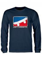 Shortys Longsleeves Skate Icon navy Vorderansicht