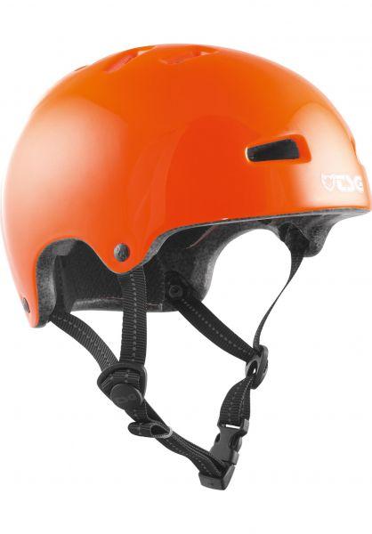 TSG Helme Nipper Mini Solid Color Kids gloss orange vorderansicht 0750039