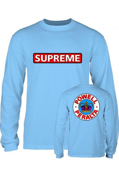 Powell-Peralta Longsleeves Supreme carolina-blue Vorderansicht