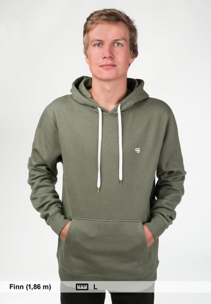 TITUS Hoodies Uni Hood olive Rueckenansicht