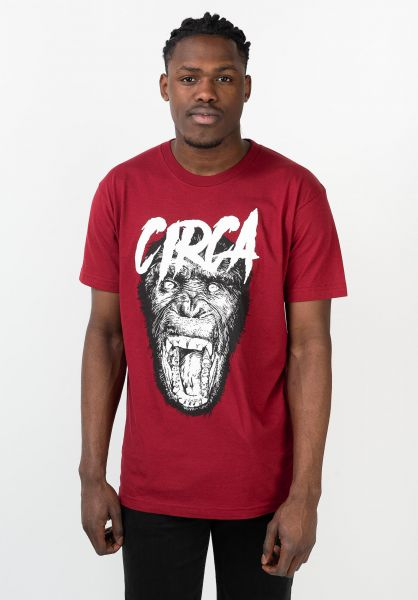 C1RCA T-Shirts Scream maroon vorderansicht 0211657