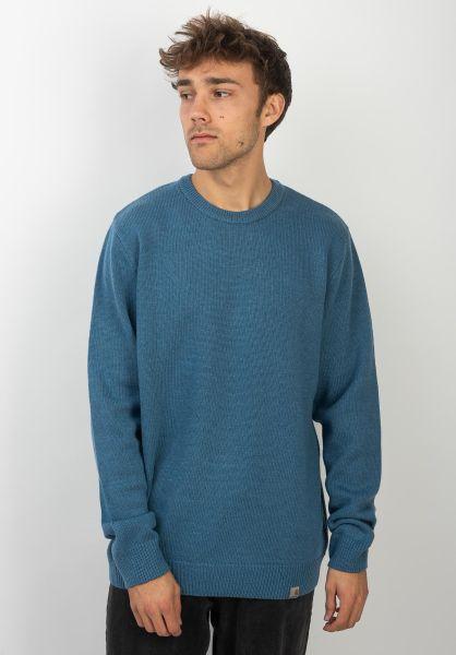 Carhartt WIP Strickpullover Allen Sweater prussianblue vorderansicht 0144025