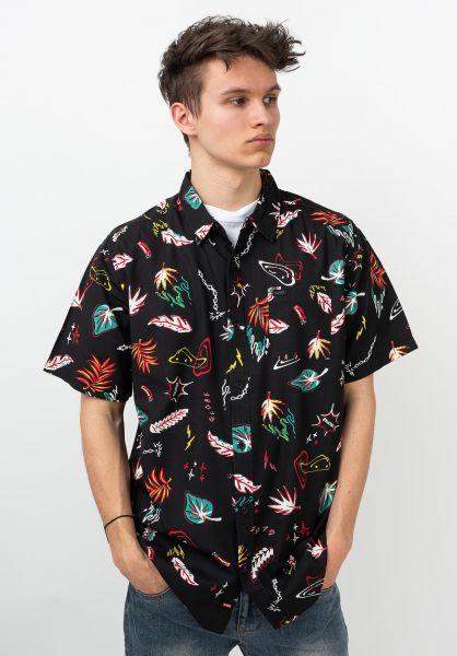 Globe Hemden kurzarm Psychotropics washedblack vorderansicht 0400925