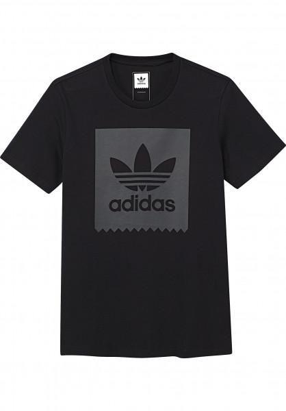 adidas T-Shirts Blackbird Logo Fill black Vorderansicht