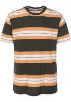 RVCA T-Shirts Oxnard Stripe darkmilitary vorderansicht 0398426