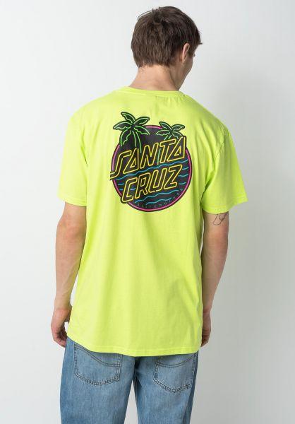 Santa-Cruz T-Shirts Glow Dot safetygreen vorderansicht 0322169
