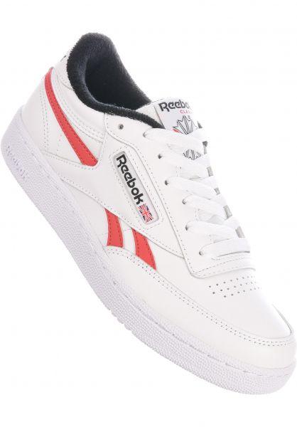 Reebok Alle Schuhe Club C Revenge MU white-black-legacyred vorderansicht 0612517