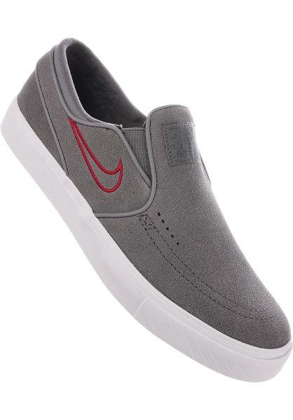 6959d890644 Nike SB Alle Schuhe Zoom Stefan Janoski Slip On gunsmoke-red Vorderansicht