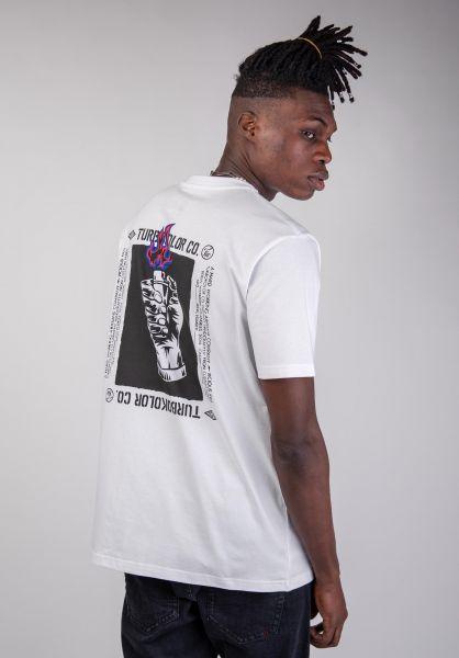 Turbokolor T-Shirts Light My Fire white vorderansicht 0320190