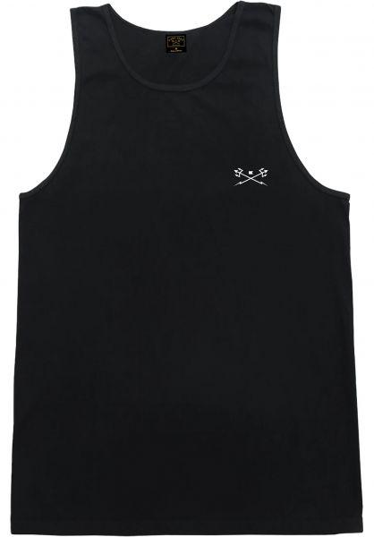 Dark Seas Tank-Tops Go-To-Tank Pigment black vorderansicht 0323125