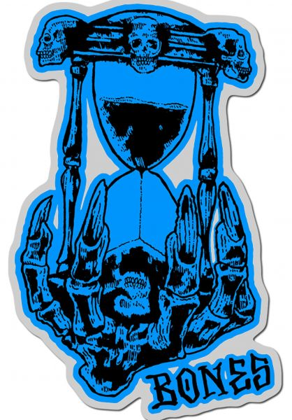 "Bones Wheels Verschiedenes Time Beasts Hourglass 4"" Sticker blue vorderansicht 0972293"