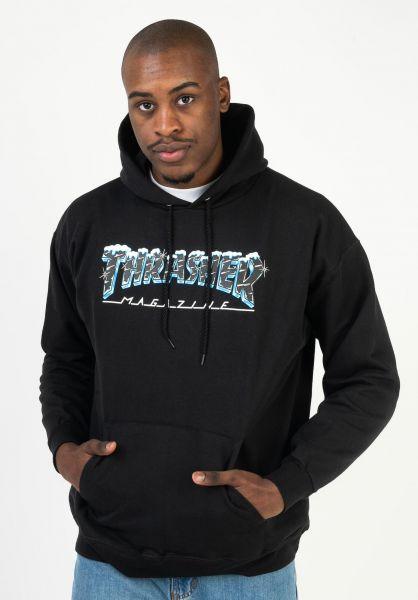 Thrasher Hoodies Black Ice black vorderansicht 0446105