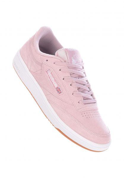 Reebok Alle Schuhe Club C 85 lilac-white-gum vorderansicht 0612485