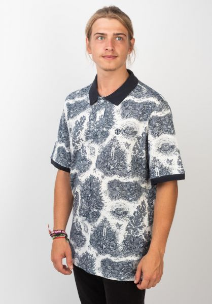 Element Polo-Shirts Timber Too Late toolate-blue vorderansicht 0138403