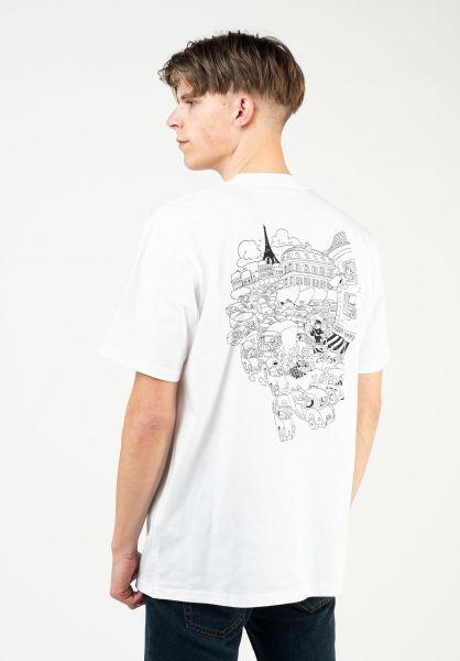 Carhartt WIP T-Shirts Picnic In Paris white vorderansicht 0324144