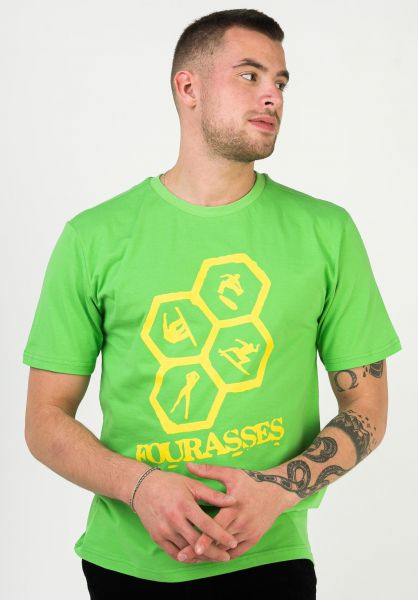 Fourasses T-Shirts Comb green vorderansicht 0323236