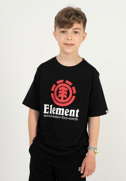Element T-Shirts Vertical Kids flintblack-red vorderansicht 0371465
