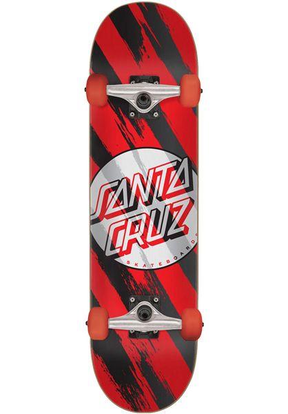 Santa-Cruz Skateboard komplett Brush Dot red vorderansicht 0162024