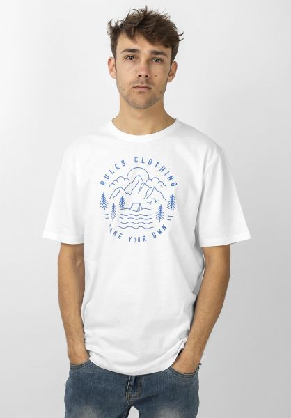 Rules T-Shirts Peak white vorderansicht 0399959