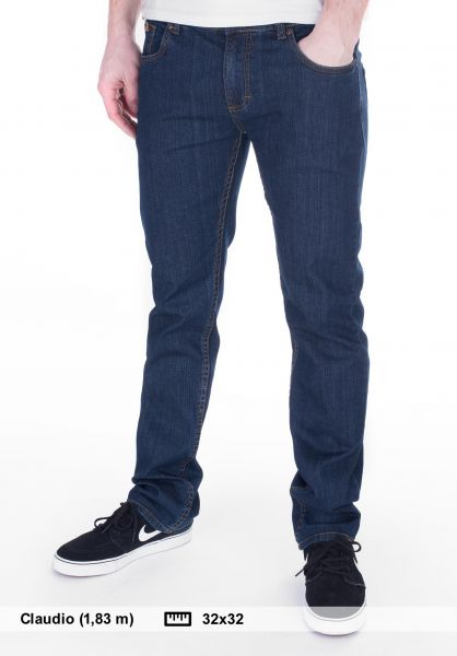 TITUS Jeans Tube Fit darkblue-denim Vorderansicht