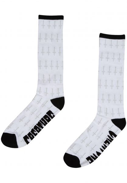 Creature Socken Holy Crosses white vorderansicht 0631945