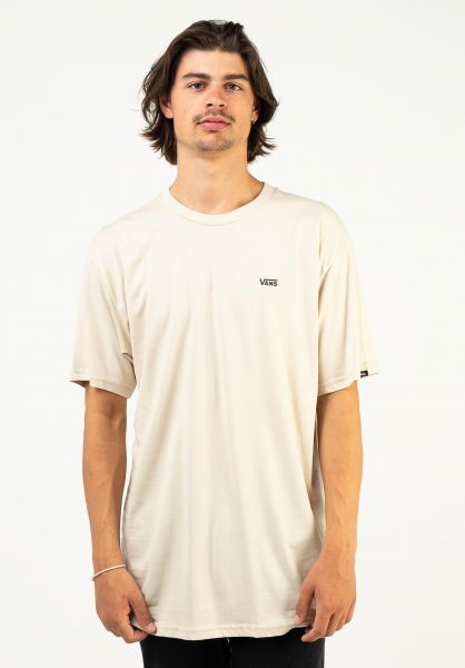 Vans T-Shirts Left Chest Logo oatmeal vorderansicht 0397675