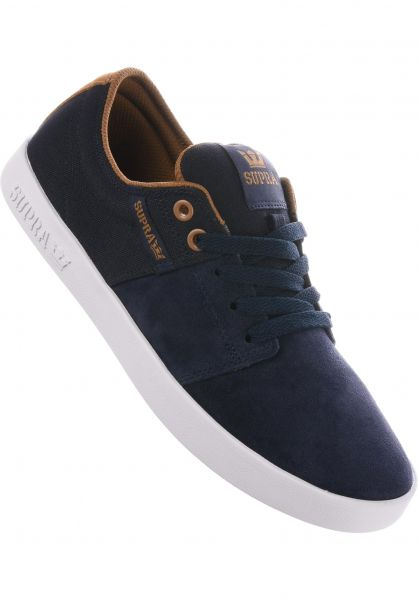 Marques Chaussure homme Supra homme Stacks II Navy/Tan - White