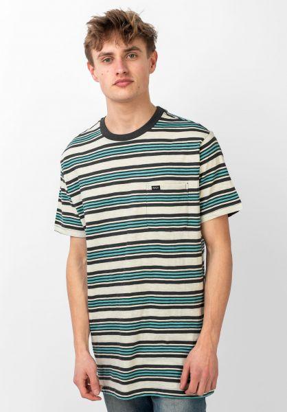 RVCA Damian T-Shirt rayé-Argent Bleach