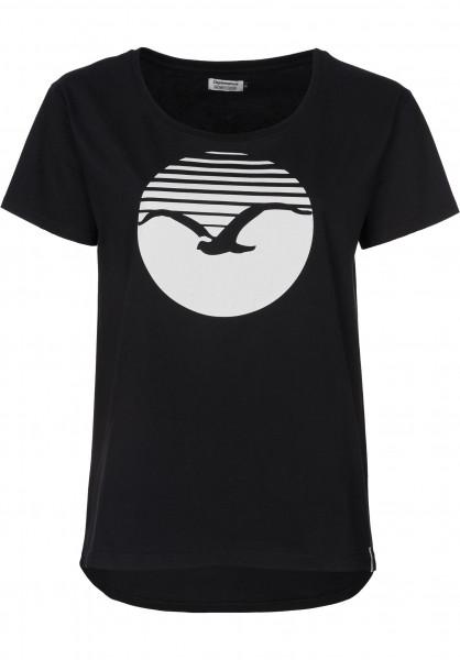 Cleptomanicx T-Shirts Sun black Vorderansicht