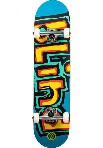 Blind Skateboard komplett Matte OG Logo brightred-teal vorderansicht 0161140