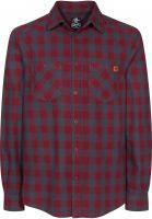 TITUS Hemden langarm Adam Light burgundy-grey-checked Vorderansicht