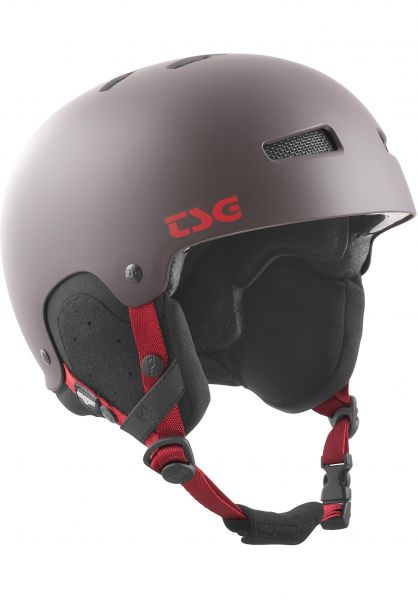 TSG Snowboardhelme Gravity Solid Color satin black chocolate Vorderansicht 0750089